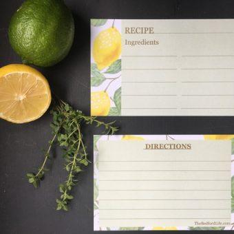 "4×6 Recipe Cards ""Lemon"""